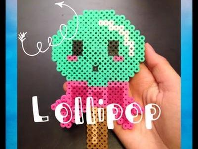 Perler Bead Kawaii Lollipop Tutorial!
