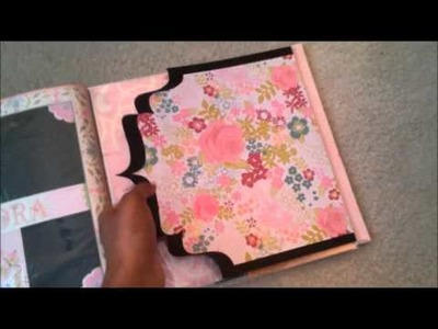 Pink Family History 12x12 Semi Interactive Scrapbook Album