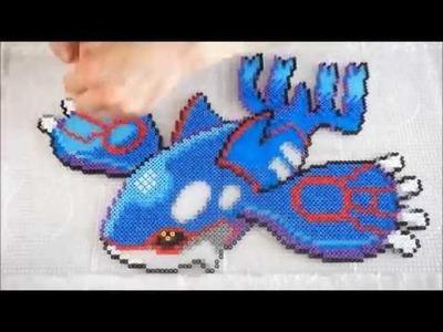 Pokémon KYOGRE - Hama Beads. Perler Beads