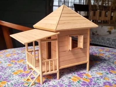 Popsicle stick miniature house 2 (rumah batang aiskrim 2)
