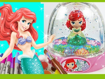PRINCESS ARIEL GLITZI GLOBES inspired. Paint your own glitter dome