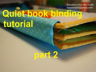 Quiet book binding tutorial. Part 2