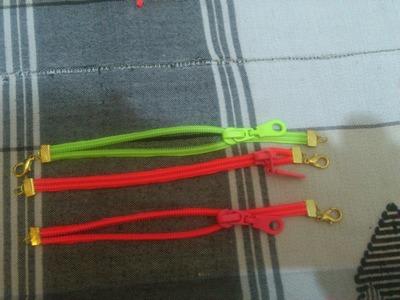 Super Easy Zipper Bracelet