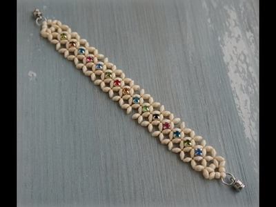 Superduo™ & Montee Beads Diagonal RAW Bracelet Tutorial