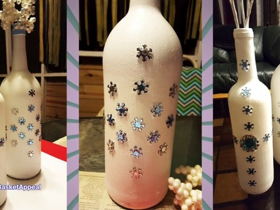 Winter White Wine Bottle - Dollar Tree Stickers