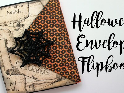 Witchy Halloween Envelope Flipbook. Collab with Halloween Happy | Serena Bee