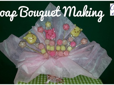 041. Soap Bouquet making - winnie the pooh theme