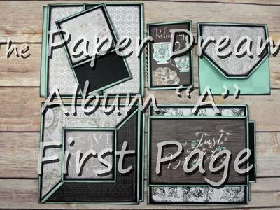 "6x6 Mini Album Tutorial ""First Page"" of ""Album A"""