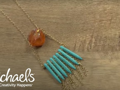 Create Your Own: Crystal Drop Necklace | Michaels