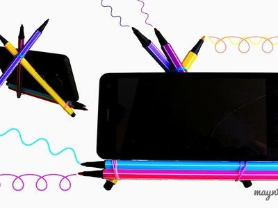 DIY 10 Easy PHONE HOLDERS (Life Hacks)