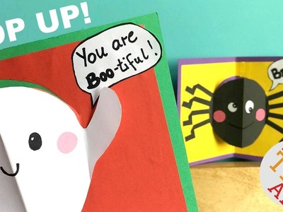 Easy Halloween Pop Up Cards (with Halloween Jokes for Kids) - Easy Paper Crafts DIY