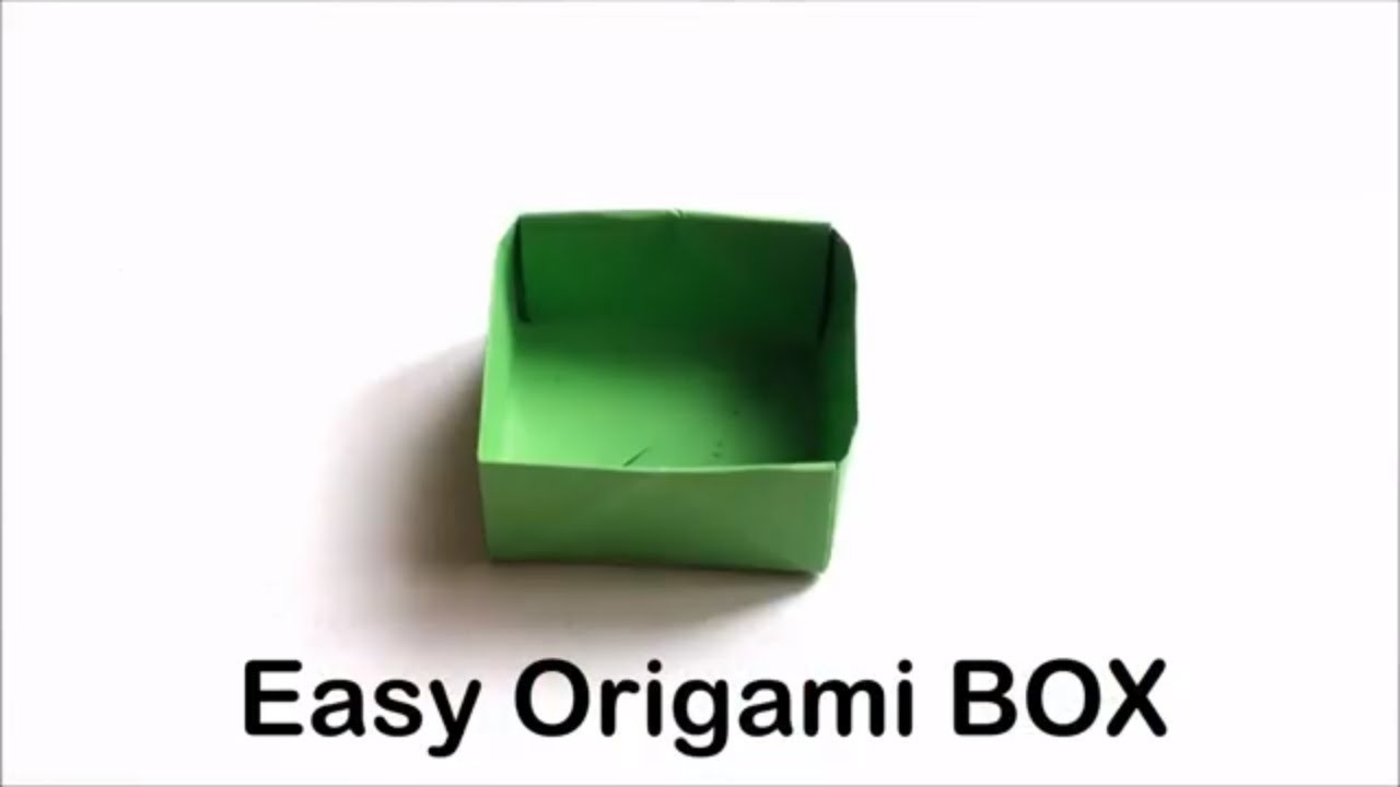 Easy Origami Box - Origami Tutorial for Beginners | Craft Haven