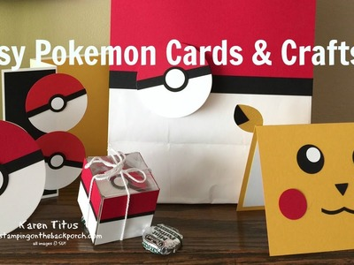 Easy to Make Pokemon Cards & Crafts! #1
