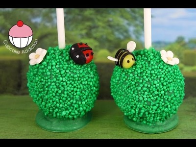 Garden Party Cakepops! Make Bee & Ladybug Garden Cake Pops - A Cupcake Addiction How To Tutorial