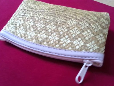 Gold Coin Pouch Change Purse Small Bag Thai Pattern Embroidery