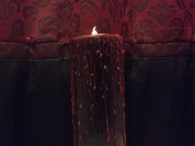 Goth Candle Project Part 1 (How to make Gothic LED Candles.Gothic Home Decor Ideas)