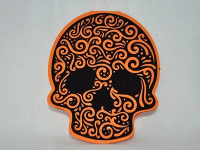 Halloween Skull Card - Super fast & Easy - Cricut Explore