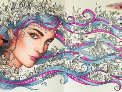HOW I COLOR HAIR - PRINCESS OCTOPUS | Daydreams Coloring Book | Coloring With Colored Pencils