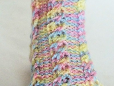 How to Continue a Stitch Pattern to Tip of Toe ( Loom Knitting Socks)
