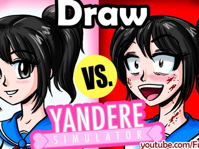 How to Draw GOOD VS EVIL Yandere Simulator - Anime Manga Drawing