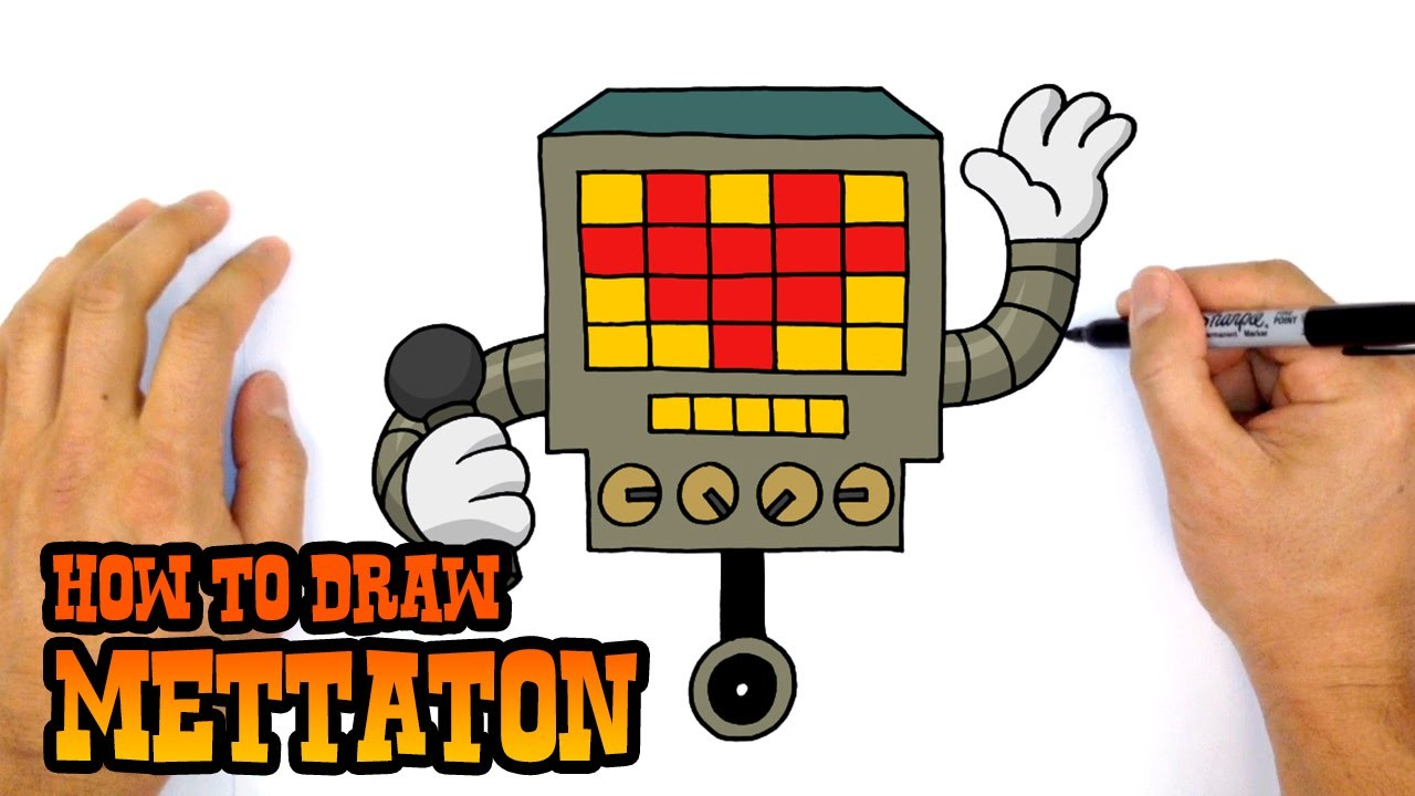 How to Draw Mettaton (Undertale)- Kids Art Lesson
