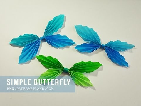 How to Make a Cute Origami   Simple Butterfly (Mariposa de Papel)