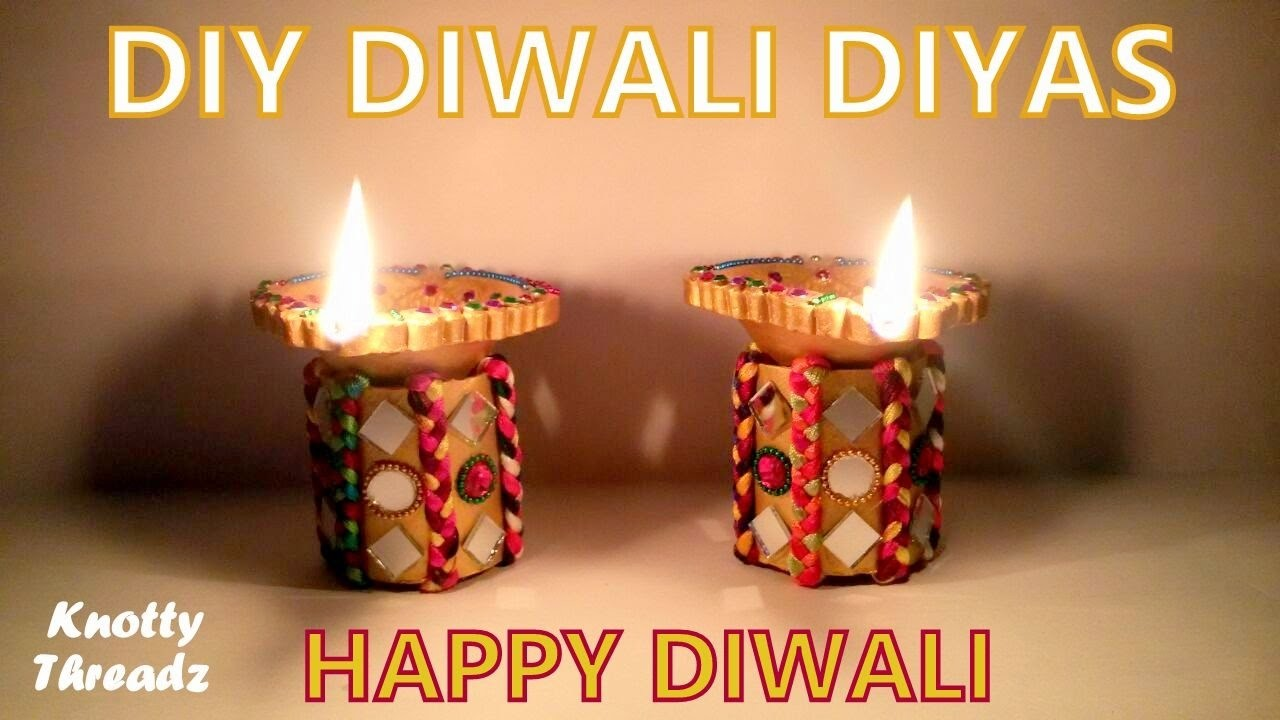 How to make DIY Diwali Diyas at Home | Tutorial !!