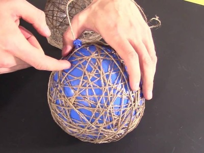 HOW TO MAKE WRAPPED BALLOON LAMP