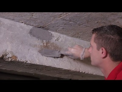 How to repair holes in concrete walls and pillars   Watco