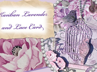 Kanban Lavender & Lace  Shabby Chic Birthday Card