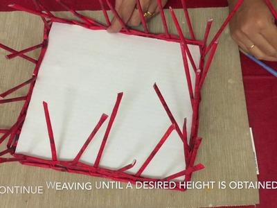 Newspaper Basket Weaving