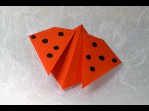 origami ladybird instructions wwworigamifuncom