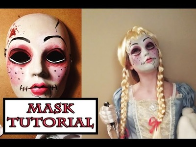 Scary Doll Mask Tutorial (with paint)
