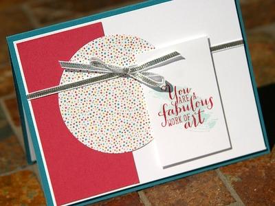 Stampin' Up Birthday Card using Work of Art