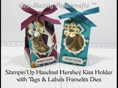 Stampin'Up Hazelnut Hershey Kiss Holder with Tags & Labels Framelits