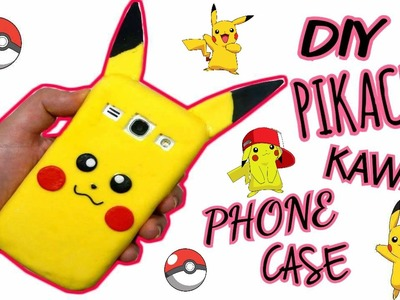 Tutorial Pikachu kawaii PHONE CASE-COVER IN SILICONE || Iolanda Sweets