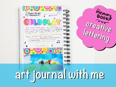 Art Journal - The Memory Book || Rainbow Hand Lettering
