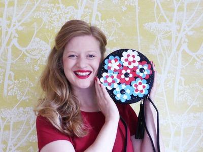 D.I.Y. Fendi Floweland Bag Hack with the  Sizzix Big Shot and Hochanda.com   By Hannah Read-Baldrey