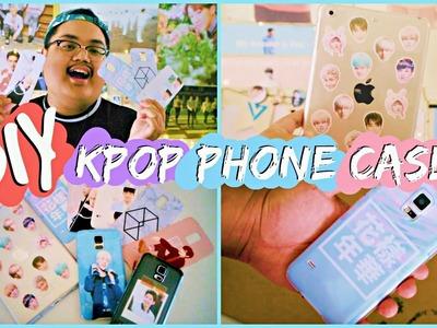 DIY KPOP Phone Cases! (BTS, EXO, etc.) | KPOPAMOO