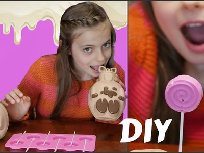 DIY Melting PIG Chocolate & Make Chocolate Lollipops
