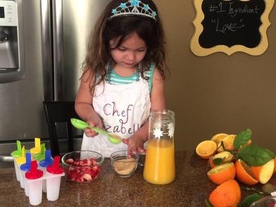DIY Orange Popsicles by 4 Year Old, Chef Izabella