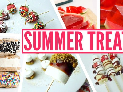 DIY Pinterest Summer Treats | Jelly Watermelon, Smores Pop, Ice Cream Cookie