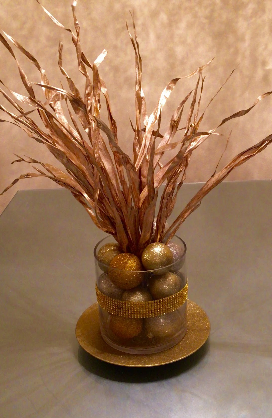 DIY with @fancienanc Gold Table Centerpiece