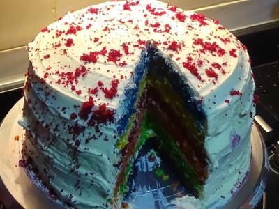 Easy Fluffy Rainbow Cake