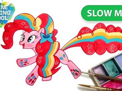 How to draw #rainbow power #PinkiePie #MLP | Slow mode