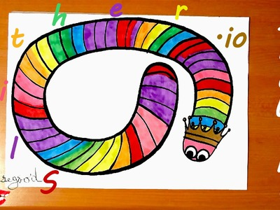 How to Draw slither.io Snake: Rainbow Snake | Easy for Kids | Cool Stuff