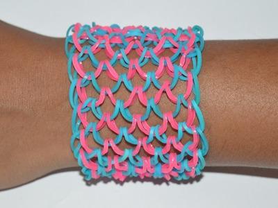 How to Make a Net Bracelet With Rainbow Loom - Step by Step Instruction Tutorial - Mazichands.com