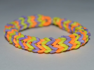 How to Make a Rope Bracelet With Rainbow Loom - Step by Step Instruction Tutorial - Mazichands.com