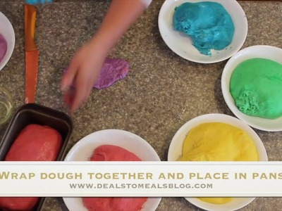 How to Make Easy Rainbow Bread