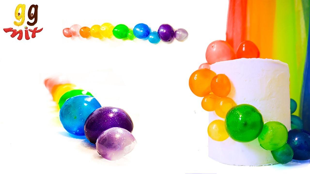 How to make Rainbow Gelatin Bubbles
